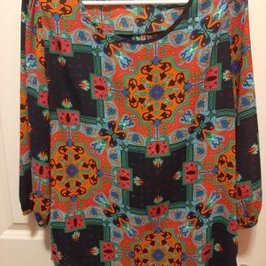 Miami Colorful Blouse Light and Airy Sz. M